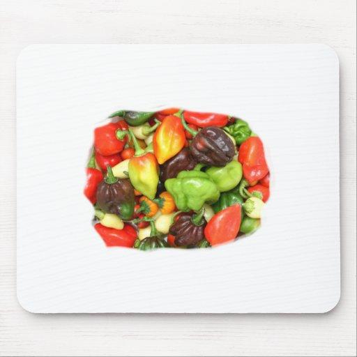 ¡Las pimientas picantes calientes diversa especie, Tapete De Ratones