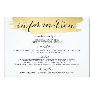 """Las pinceladas del oro hacemos la tarjeta de invitación 3.5"""" x 5"""""""