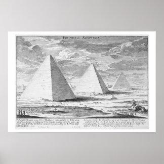 Las pirámides de Egipto, platean 4 del 'einer de E Posters