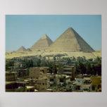 Las pirámides de Giza, c.2589-30 A.C., viejo reino Posters