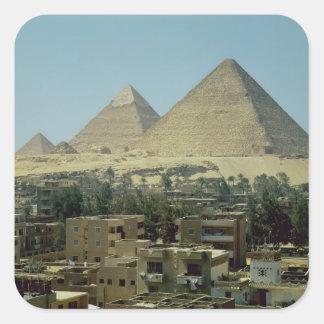 Las pirámides de Giza, c.2589-30 A.C., viejo reino Colcomanias Cuadradas
