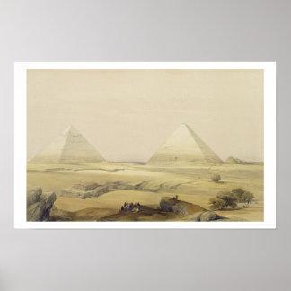 """Las pirámides de Giza, de """"Egipto y de Nubia"""", vol Póster"""