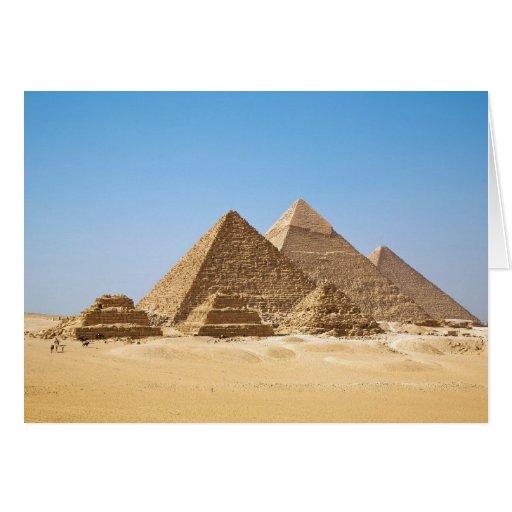 Las pirámides de Gizah Tarjeta
