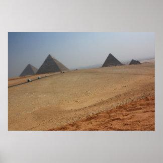 Las pirámides en Giza Póster