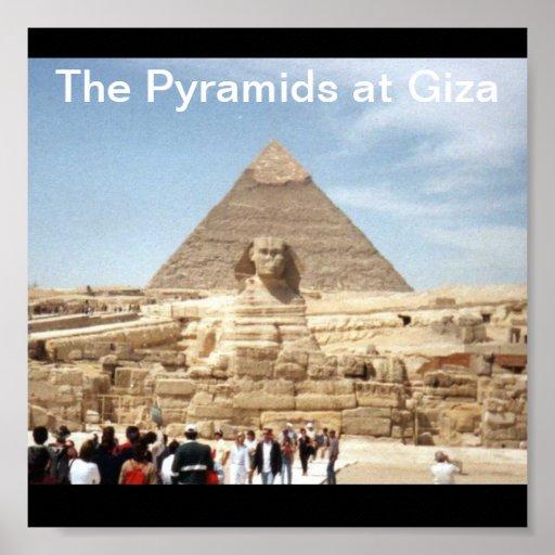 Las pirámides en la impresión de Giza Impresiones