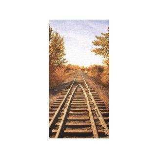 Las pistas viejas del tren impresión en lienzo estirada
