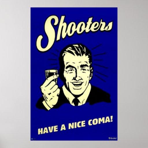 las pistolas tienen una coma agradable impresiones