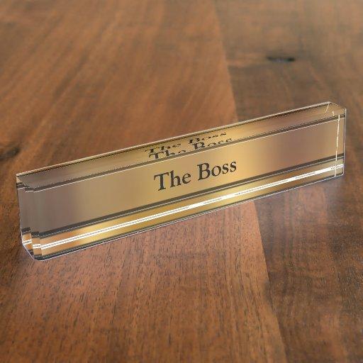 Las placas de identificación ejecutivas del escrit