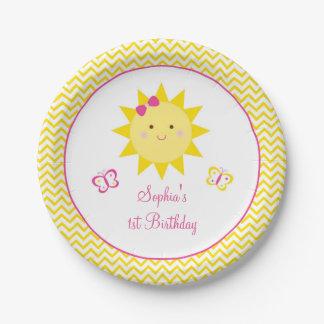Las placas del cumpleaños de la sol usted es mi platos de papel