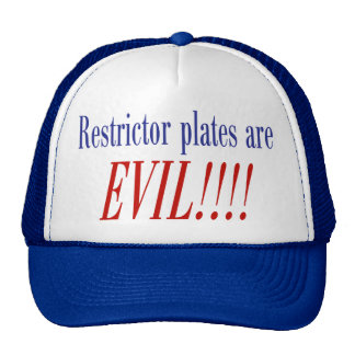 ¡Las placas del restrictor son MALVADAS!!!! Gorras De Camionero