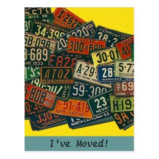 Las placas del vintage de la postal he movido la d