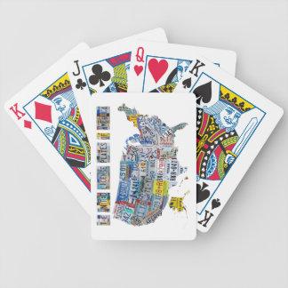 Las placas unidas de los naipes de América Baraja Cartas De Poker