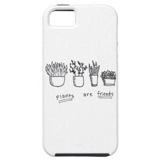 Las plantas son caso de los amigos iPhone 5 funda