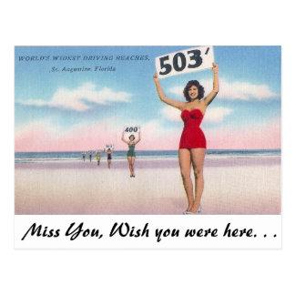 Las playas de conducción más anchas de los mundos tarjetas postales
