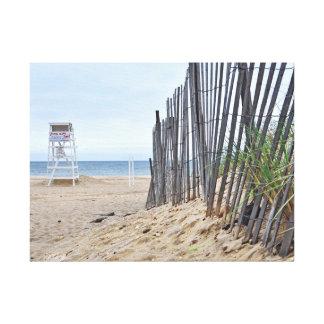 Las playas de la duna de arena de Montauk, NY Impresiones En Lona Estiradas