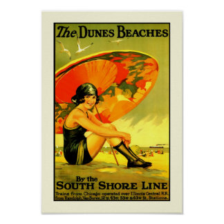Las playas de las dunas póster