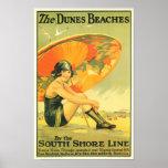 Las playas de las dunas posters