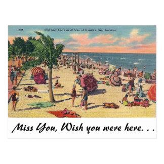 Las playas finas de la Florida Postal