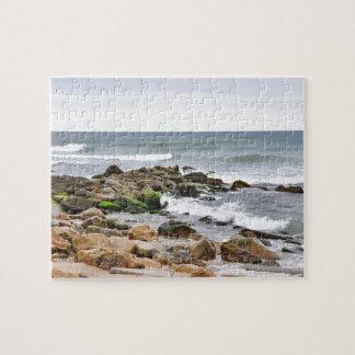 Las playas rocosas de Montauk, Long Island, NY Puzzle