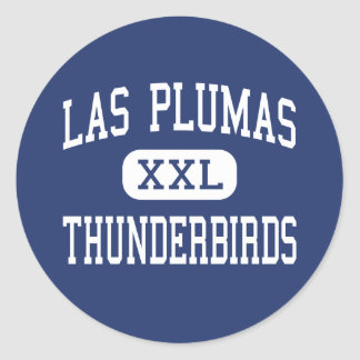 Las Plumas - Thunderbirds - alto - Oroville Pegatina Redonda