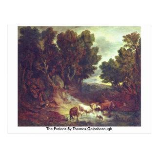Las pociones de Thomas Gainsborough Tarjetas Postales