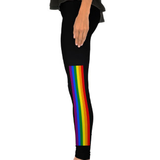 Las polainas de la bandera del arco iris el colo