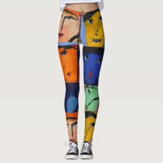 Las polainas de las mujeres de las caras leggings
