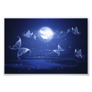 Las polillas de Luna de las mariposas el chispear Cojinete