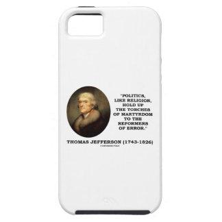 Las políticas como la religión soportan el funda para iPhone SE/5/5s