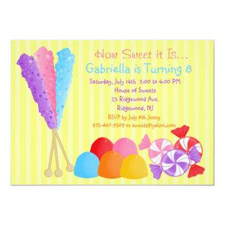 """Las porciones coloridas de caramelo embroman la invitación 5"""" x 7"""""""