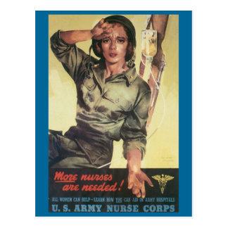 Las postales de la guerra del vintage, enfermeras