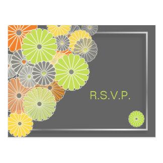 Las postales/para de PixDezines Kiku RSVP 5x7 invi