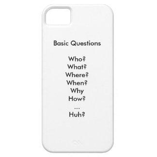 Las preguntas básicas de la vida iPhone 5 carcasas