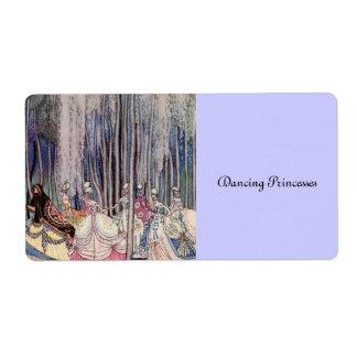 Las princesas del baile etiqueta de envío