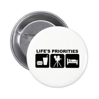 Las prioridades de la vida, películas pin redondo 5 cm