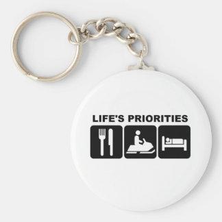 Las prioridades de la vida, skidooing llavero redondo tipo pin