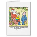 Las promesas de Santa del dibujo animado del Tarjetón
