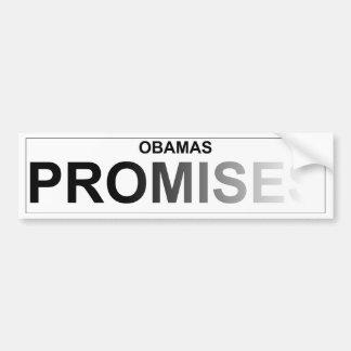 Las promesas políticas de Obama - descolorándose Pegatina Para Auto