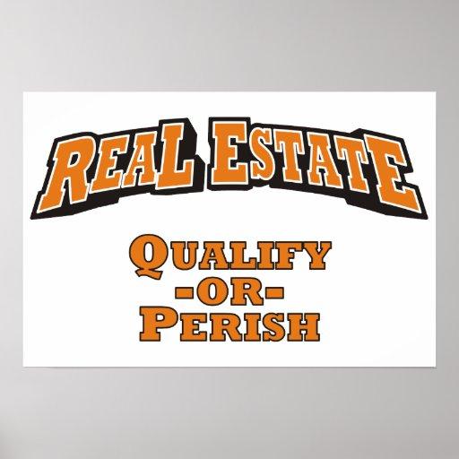 Las propiedades inmobiliarias - califique o fallez posters