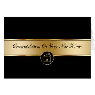 Las propiedades inmobiliarias le agradecen las tar tarjeta de felicitación
