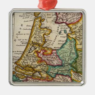 Las provincias o los Países Bajos unidos Adorno Navideño Cuadrado De Metal