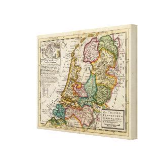 Las provincias o los Países Bajos unidos Impresión En Lienzo Estirada
