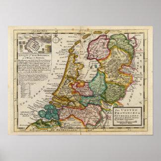 Las provincias o los Países Bajos unidos Póster