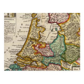 Las provincias o los Países Bajos unidos Tarjeta Postal