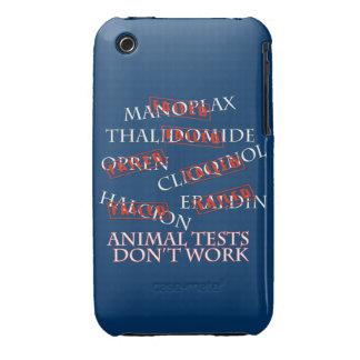Las pruebas animales no trabajan la caja negra de iPhone 3 carcasas