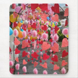Las puertas de corazones alfombrilla de ratón