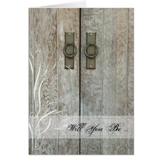 Las puertas de granero dobles le quieren sean mi tarjeta de felicitación