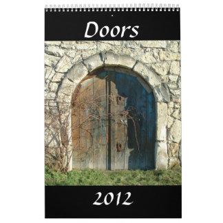Las puertas hacen calendarios 2012