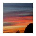Las puestas del sol son bonitas azulejo ceramica
