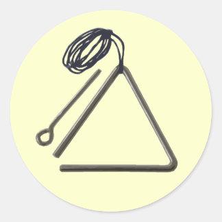 ¡Las puñetas sí, juego el triángulo! Pegatina Redonda
